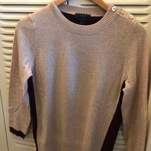 J. Crew Two-Toned Crew Neck Sweater